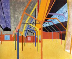 Apotheosis of Groundlessness by R. B. Kitaj, oil on canvas, 1964   ART & ARTISTS: R. B. Kitaj - part 1