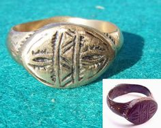 Roman Celtic Medieval Viking and Saxon jewellery  Beautifully engraved bronze ring is amongst one of many on our website.