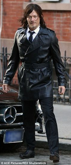 Men's Fitness Shoot - NYC That's a new look! Reedus traded his black jacket for a longer coat at one point during the shoot