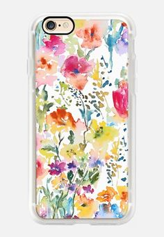 Casetify iPhone 7 Case and Other iPhone Covers - Watercolor Flowers2 by Pineapple Bay Studio | #Casetify