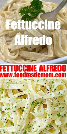 Fettuccine Alfredo is a classic American pasta dish with just a few simple ingredients. Pair it with grilled chicken or air fryer shrimp! Soup Diet Plan, Diet Soup Recipes, Pasta Recipes, Kfc Chicken Recipe, Chicken Recipes Video, Tasty Videos, Food Videos, Recipe Videos, Healthy Chicken Dinner