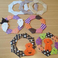 折り紙リースを作ろう《ハロウィン編》 – Handful[ハンドフル] Origami And Kirigami, Origami Easy, Holiday Crafts, Halloween Party, Diy And Crafts, Frame, Instagram Posts, Design, Crafts