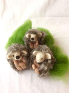 Prickle of Hoglets Needle Felt Kit - create your own baby hedgehogs Needle Felting Kits, Needle Felted Animals, Felt Animals, Baby Hedgehogs, Book Making, Wool Felt, Create Your Own, Projects, Log Projects