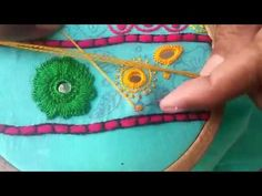 Hand Embroidery: Long stitch / Living stitch Part-3 - YouTube