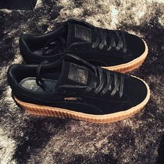 Listed on Depop by littlethings89. Rihanna Puma Creepers BlackPuma Suede ... f9c4487cf