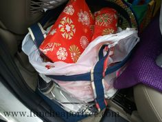Tips and tricks for traveling with kids! - Wrap up prizes and let them open one when they get restless in the car!