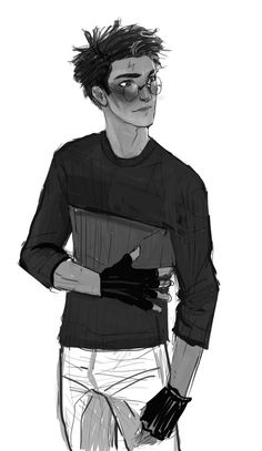 This is how I imagine him *-* ♥ harry potter b&w Harry James Potter, Harry And Ginny, Harry Potter Drawings, Harry Potter Fan Art, Harry Potter Universal, Harry Potter Fandom, Harry Potter World, Hogwarts, Golden Trio