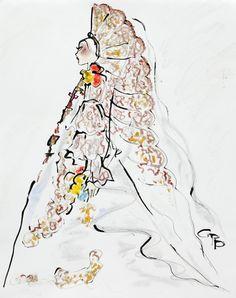 Gladys Perint Palmer - Christian Lacroix July 7 2009 Les Arts Décoratifs - Fashion Illustration Gallery