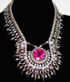 Fuchsia Swarovski - Stone Necklace. 225.00