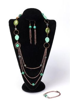 Boho Chic - Designed for A.C. Moore featuring beads from @CousinCorp .  Created by Dawn Doucette - Bella Amore Legacy Jewelry http://www.BellaAmoreLegacyJewelry.com #turquoise #copper #jewelry