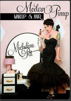$30.00 Modern Pinup Makeup & Hair DVD by the beautiful Micheline Pitt.. must buy!