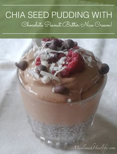 All I can say is, if you're a chocolate lover like me you're definitely going to want to try this Layered Chia Seed Pudding with Chocolate Peanut Butter Nice Cream! Click through for the recipe or pin and save for later!