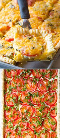 Southern Tomato Slab Pie Recipe