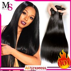 Brazilian virgin hair straight 3 pcs lots 100% Unprocessed human hair weaves hair extensions clip in free shipping