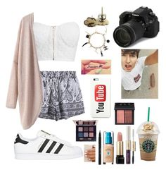 """Hanging out with Jc"" by legitromo ❤ liked on Polyvore featuring NLY Trend, adidas Originals, Eos, tarte, Chanel, Lancôme, Tory Burch, Stila, NARS Cosmetics and women's clothing"