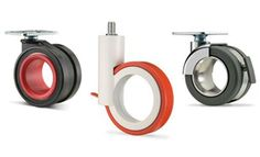 Add some color to any industrial piece with these Hollow Wheel Casters from Mockett
