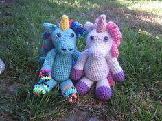 Free Amigurumi Unicorn Pattern : Lostsentiments free amigurumi crocheted unicorn horn pattern