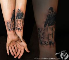 Father and son; tattoo by Blaze www.facebook.com/zentattoozagreb www.zentattoogallery.com