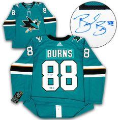 24c7090914c Brent Burns San Jose Sharks Autographed Adidas® Authentic Pro Hockey Jersey