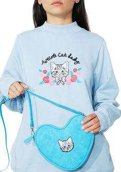 Lazy Oaf Soft Heart Kitty Bag