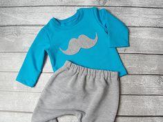 Dres niemowlęcy - Wąsy 62 - 92 cm - pestka-sklep - Komplety dla niemowląt