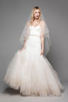 Sweetheart Fit and Flare Wedding Dress  with Natural Waist in Tulle. Bridal Gown Style Number:33272923