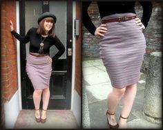 jersey pencil skirt DIY