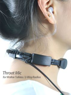 Throat Mic Set for Walkie Talkies / 2-Way Radios =====> Crystal clear radio communication in the noisiest environments with this professional grade throat mic set. This military spec throat microphone (AKA laryngophone) picks up sound directly from your vocal chord vibrations and cancels out 90% of all background noise.