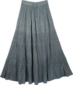 Ombre Flowy Grey Shimmer Skirt TLB (Tinsel ) Dancing Long Grey Womens Skirt - This is a long graded ombre skirt in grey, accented with shiny tinsel (silver thread) throughout the skirt Flowy Skirt, Ruffle Skirt, Dress Skirt, Sequin Skirt, Thai Pants, Summer Skirts, Dress Me Up, Gray Dress, Jacket Dress