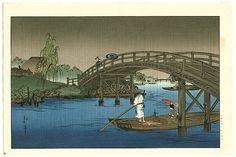 Koho Shoda 1871?-1946? - Bridge in the Rain
