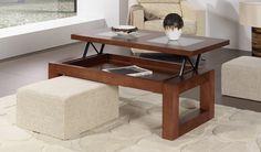 Mesa de Centro Moderna Elevable Opcion Pouffs Ref M55000