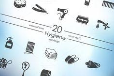 20 hygiene icons by Palau on Creative Market