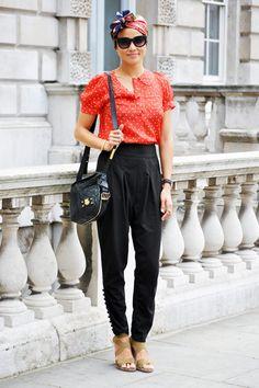 London Fashion Week street style by ELLE.com