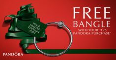 LAST DAY!! Don't miss your chance to receive a FREE Limited Edition, Heart of Winter Bangle with your $125 #PANDORA Jewelry purchase. Happening now, while supplies last. See Atlanta West Jewelry for details. 770.489.8600