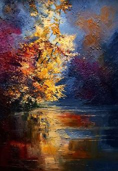 View Justyna Kopania's Artwork on Saatchi Art. Find art for sale at great prices from artists including Paintings, Photography, Sculpture, and Prints by Top Emerging Artists like Justyna Kopania. Landscape Paintings, Oil Paintings, Painting Art, Autumn Painting, River Painting, Indian Paintings, Painting Lessons, Love Art, Painting Inspiration