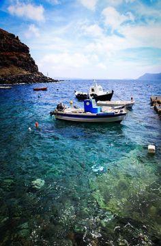 The sea near Santorini