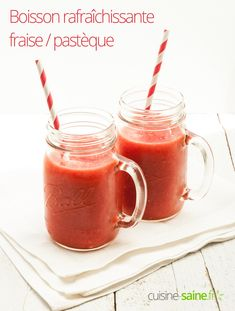 Boisson rafraîchissante fraise / pastèque