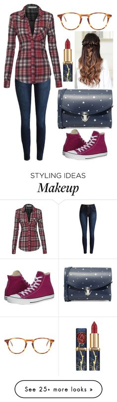"""60 seconds"" by berryco on Polyvore featuring Converse, Garrett Leight, The Cambridge Satchel Company, 60secondstyle and PVShareYourStyle"