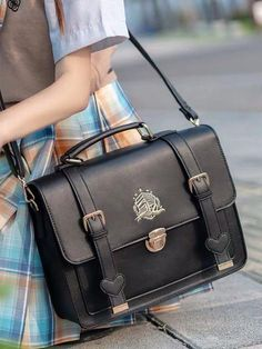 Japanese School Bag, Japanese Bag, Handbags For School, School Bags, Leather Purses, Leather Handbags, Pu Leather, Aesthetic Backpack, College Bags