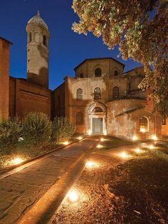 Ravenna - Basilica di San Vitale at Night |Photo by Nicola Strocchi - Comune of Ravenna Photo Archive