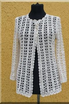 Click to view pattern for - Crochet white jacket