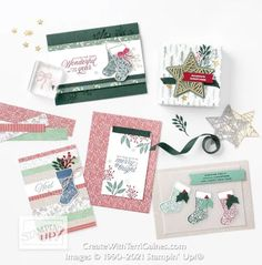 Creating with Tidings of Christmas Suite & Card Samples using Page 88 Card Sketch Designs (video & download - 9 of 10) - Create With Terri Gaines Stampin Up Christmas, Handmade Christmas, Christmas Trimmings, Wink Of Stella, Fun Fold Cards, Sketch Design, Card Sketches, Card Kit, Merry And Bright