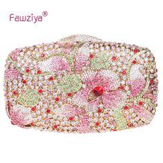 87.00$ Buy here - http://alic4f.worldwells.pw/go.php?t=32326220892 - Fawziya Bag Flower Luxury Flower Purse Women's Rhinestone Crystal Clutch Evening Bag