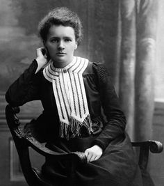 Marie Skłodowska-Curie, 1867 - 1934,   was a Polish and naturalized-French physicist and chemist who conducted pioneering research on radioactivity. She was the first woman to win a Nobel Prize, the first person and only woman to win twice, the only person to win twice in multiple sciences, and was part of the Curie family legacy of five Nobel Prizes.