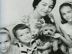 Willie Nelson Wife Martha Matthews and their 3 children...Susie, Billy and Lana Nelson