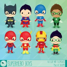 Superhero boys clipart Superhero clipart by CuteGraphicSupply Superman Clipart, Superhero Clipart, Superhero Kids, Superhero Party, Supergirl, Baby Avengers, Diy Quiet Books, Batman Party, Art Drawings For Kids