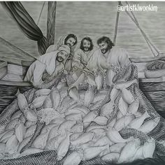 Luke 5:4-6 KJV  Now when he had left speaking, he said unto Simon, Launch out into the deep, and let down your nets for a draught.  And Simon answering said unto him, Master, we have toiled all the night, and have taken nothing: nevertheless at thy word I will let down the net.  And when they had this done, they inclosed a great multitude of fishes: and their net brake.  누가복음 5:4-6 KRV  말씀을 마치시고 시몬에게 이르시되 깊은데로 가서 그물을 내려 고기를 잡으라 시몬이 대답하여 가로되 선생이여 우리들이 밤이 맟도록 수고를 하였으되 얻은 것이 없지마는 말씀에 의지하여 내가…
