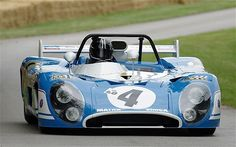 Matra: The blue-and-white colours preferred by French firm Mechanique Aviation Traction, allied to its V12-powered F1 and sports-racers, made the late 1960s and early 1970's a better place. Picture: Francois Cever, Matra- Simca MS670B, Nurburgring1000 km, 1973.
