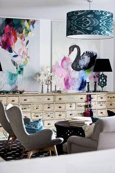 Fenton & Fenton :: sideboard :: chairs :: on the wall