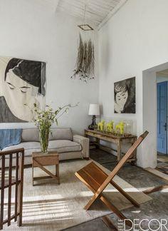 Artistic Living Room - ELLEDecor.com